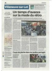 JOURNAL SUD OUEST 18 AVRIL 2016